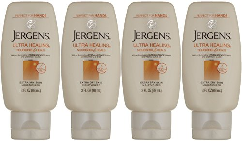 Jergens Ultra Healing Extra Dry Skin Moisturizer Lotion, 3 Ounce (Pack of 4)