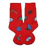 Weri Spezials Frohe Weihnachten Herren Socken mit lustigen Weihnachtsmotiven! In mehreren Mustern- & Farbvariationen! (39-42, Rot Tannenschmuck)