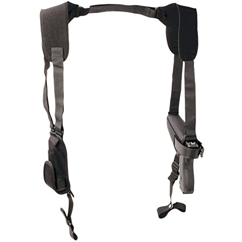Uncle Mike's Off-Duty and Concealment Pro-Pak Kodra Nylon Horizontal Shoulder Holster (Size 5, Black)