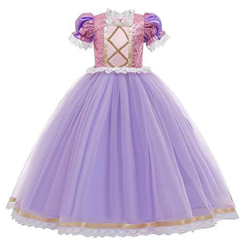 MYRISAM Vestidos de Princesa Sofia para Nias Disfraz de Carnaval Rapunzel Traje de Halloween Navidad Cumpleaos Fiesta Ceremonia Aniversario Cosplay Vestir 5-6 aos