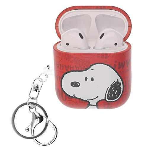 Peanuts Snoopy ピーナッツ スヌーピー AirPods と互換性があります ケース キーホルダー エアーポッズ用ケース 硬い スリム ハード カバー (言葉 スヌーピー) [並行輸入品]