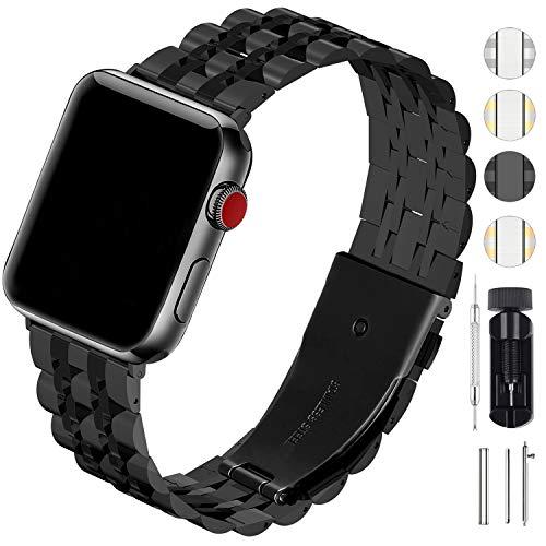 Fullmosa Cinturino per Apple Watch 42mm/44mm 38mm/40mm Cinturino per Orologio in Acciaio Inossidabile di Ricambio Cinghia Compatibile con iWatch Serie 5 4 3 2 1