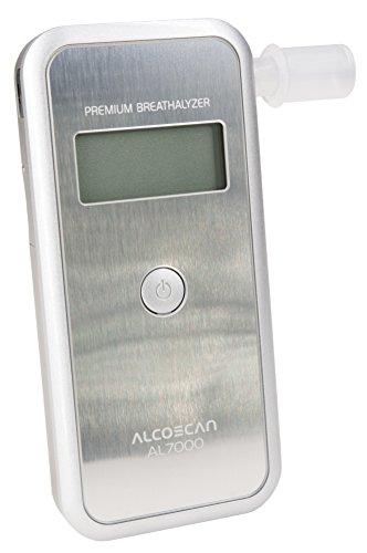 Sentech Digitaler Alkoholtester AL-7000 (Silber) / Messbereich: 0.00-4.00‰ / Messgenauigkeit: 0,01‰
