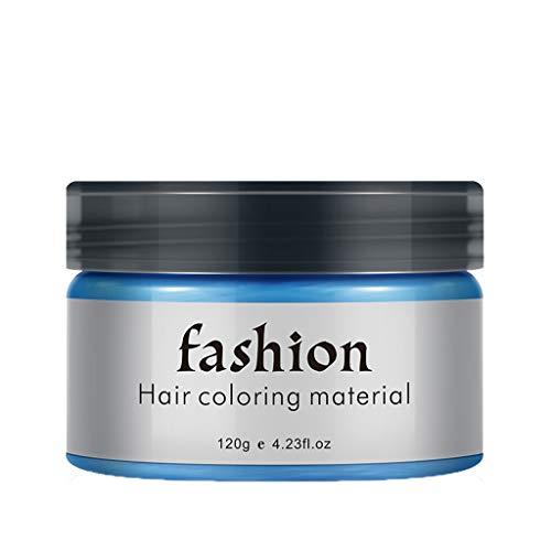 CUEYU Haarfarbe Wachs Unisex, Temporäre Haarfarbe Farbstoff Wachs Hair, Haarfarbe Wachs Instant Haarfarbe Wachs Mehrfarbige Haarpigment Wachs Frisur für Männer und Frauen (Blau)