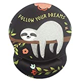 Mouse Pad with Wrist Support, Non Slip Mousepad Wrist Rest for Office, Computer, Laptop & Mac- Durable & Comfortable & Lightweight Ergonomic Support Mouse Mat (Baby Sloth -Wrist)
