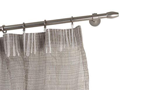 InCasa gordijnroede Ø 20 mm, lengte: 280 cm, houders 10 cm geborsteld roestvrij staal - compleet
