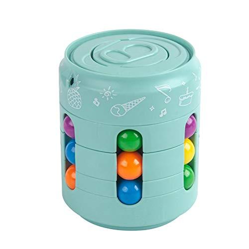 Cubo Fidget Toy – Los dedos de los niños descomprimen el cuadrado mágico juguete rompecabezas accesorio juego para ansiedad, alivio del estrés y matar el tiempo