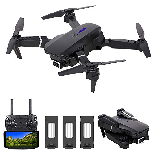 Kedelak LS-E525 RC Drone con cámara 4K Drone Cámara Dual WiFi FPV Drone Modo sin Cabeza Altitude Hold Gesture Photo Video Track Flight 3D FILP RC Qudcopter