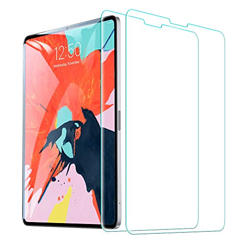 "ESR Screen Protector for The iPad Pro 12.9""(2 Pack), [Face ID Compatible] [Free Installation Frame] 9H Hardness HD Clear Tempered Glass Screen Protector for The All-Screen iPad Pro 12.9 inch (2018) …"