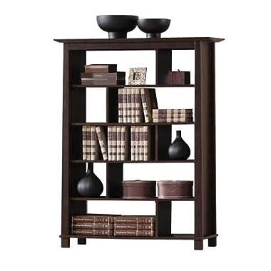 Baxton Studio Havana Tall Wood Modern Bookcase, Brown