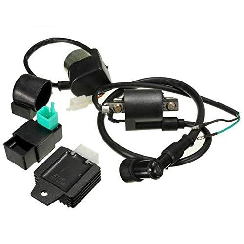 Motorrad-Komponenten For 110cc 125cc Dirt Bike CDI Box Zündspule Voltage Regulator Rectifier Ralay Satz, einfach zu bedienen.