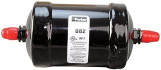 "Parker Hannifin 082 Gold Label Steel Liquid Line Filter-Drier, 1/4"" SAE Flare Fitting, 2.38"" Shell Diameter, 5.63"" Length"