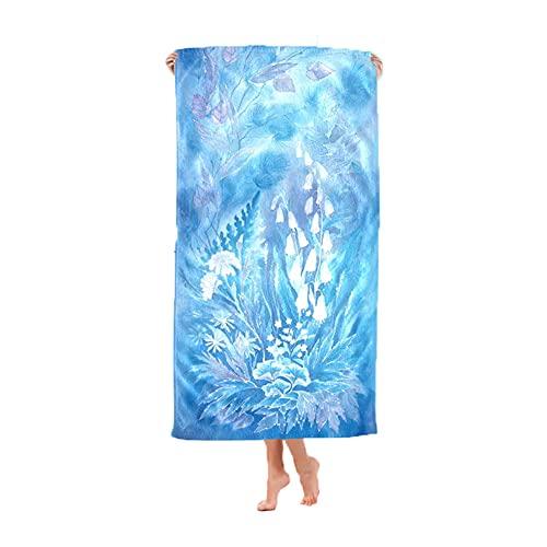 Smilsiny - Toalla de playa de microfibra, toalla de playa, de secado rápido, toalla de playa, perfecta para viajes, playa, baño de sol (70 x 40 cm, multi2)