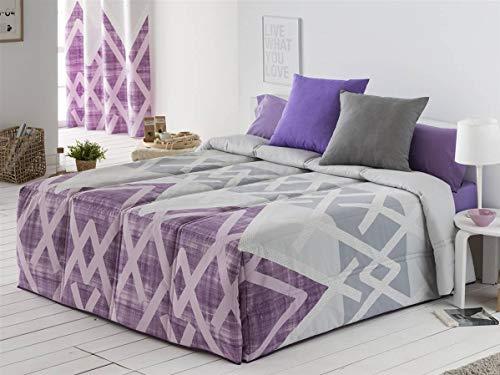 Sansa - Conforter AMAN Cama 150 - Color Lila