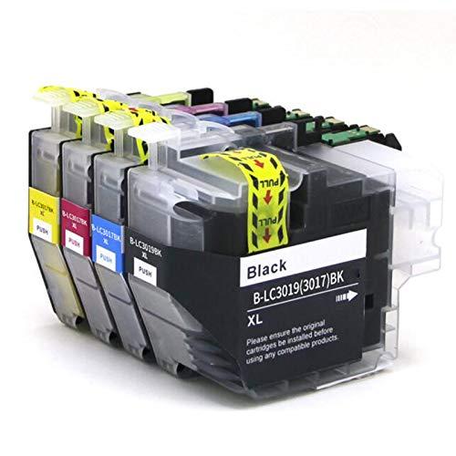 Cartucho de tinta compatible LC3017XL, color negro y negro para impresora Brother LC3017XL para usar con impresora Brother MFC-J5330DW MFC-J6530DW MFC-J6730DW MFC-J6930DW
