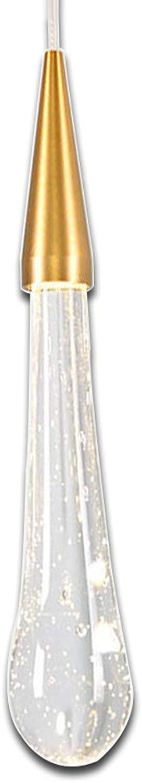 LED Pendelleuchte Modern K9 Kristall Hngelampe Wassertropfen Kreative Anhnger Dekoration Pendellampe Mode Schn Wohnzimmer Leuchte Schlafzimmer Lampe Restaurant Lichter 350 Lumen (Warmwei-Licht)