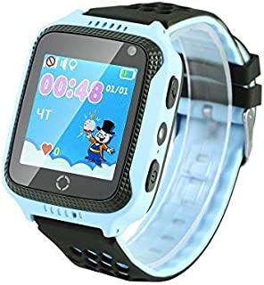 Kids Smart GPS Tracker Watch With Front Camera - Blue