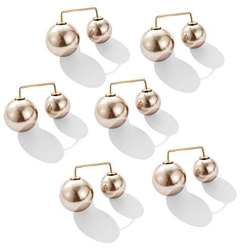 Bascar Lot de 6 broches à perle tendance pour femme Anti-éblouissement