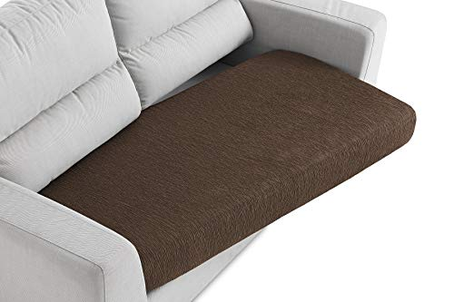 Textil-home Sitzkissenbezug für Sofa - von 130 bis 200 cm. Braun (2-3 Sitze)