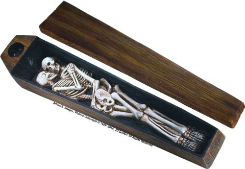 Nose Desserts Dead Lovers Coffin Box Casket - Stick and Cone Incense Ash-Catcher - Burner