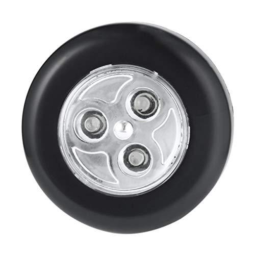 Dswe No Requiere cableado Lámpara de Noche con Control táctil Real 3 LED Inalámbrico Stick Tap Armario Lámpara táctil Funciona con Pilas