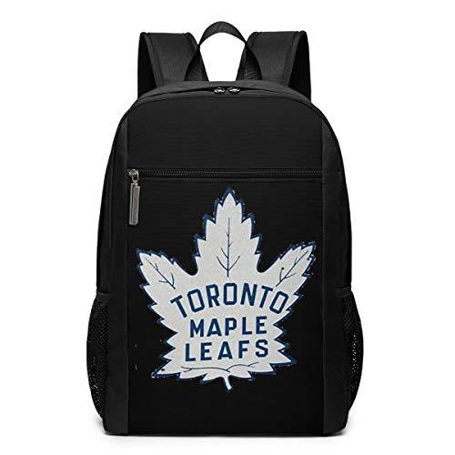 GgDupp Hockey-Logo-Toronto-Maple-Leafs Schulranzen Reiserucksack 17 Zoll Laptop Tasche, Polyester, Schwarz , Einheitsgröße