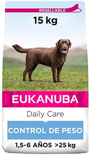 Eukanuba Daily Care Alimento seco para perros adultos de raza grande, receta de control de peso con pollo fresco 15 kg