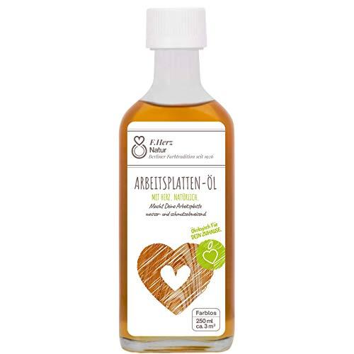 Küchenarbeitsplatten aus Holz brauchen dieses Pflegeöl | Arbeitsplattenöl farblos | natürliche Öl-Harz-Kombination | 250ml in der Glasflasche