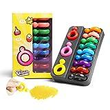 CAFFAINA Crayones de Cera no tóxicos con Forma de Anillo de 12 Colores para bebés y niños Dibujo de Pintura Seguro