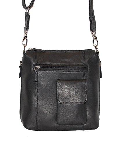 GTM Gun Tote'n Mamas Concealed Carry Flat Sac Handbag, Black, Small