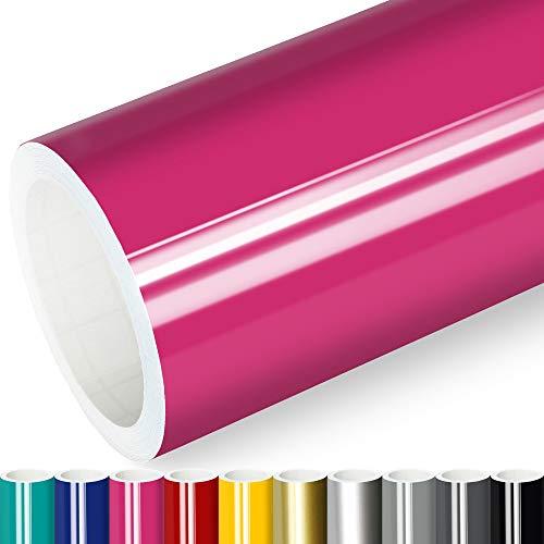 Actinium® Klebefolie 6€/m² Pink Glanz | 5m x 0,63m selbstklebende Folie glänzend | Möbelfolie selbstklebend Küchenfolie Plotterfolie