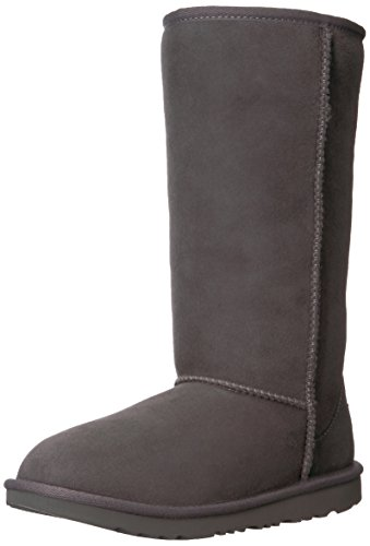 UGG unisex child Bailey Button Triplet Ii Boot, Chestnut, 4 Big Kid US