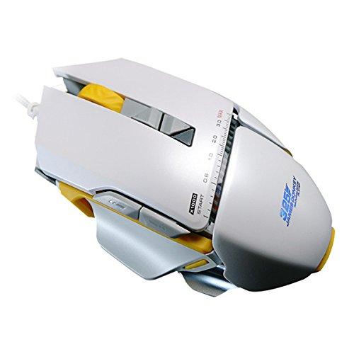 DyNamic Original James Donkey 325 3000Dpi USB con Cable De Programación Óptica Ratón De Juego con Lámpara De Respiración LED - Blanco