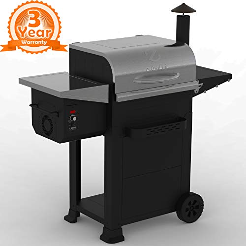Z Grills ZPG-6002E 2020 New Model Wood Pellet Grill & Smoker 6 in 1 BBQ Grill Auto Temperature Control, 600 sq in Stainless Smokers