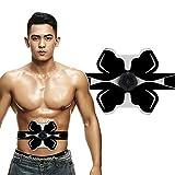 Electroestimulador Muscular EMS, Inteligente Abdomen Abdomen Stick Sports Home Ejercicio Muscle Vest Línea Cintura y Abdomen, Black