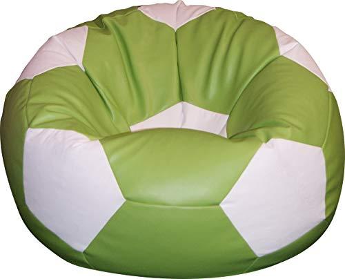 Otomana puf pera puff Pouf en falso simipelle pelotita cuero. El balón de fútbol.