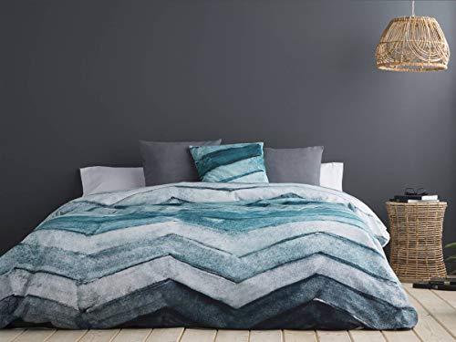 Sansa - Funda nórdica DRESDE - Cama 105 cm - Color Turquesa