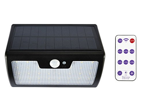 lifepower リモコン付きソーラーライト 人感センサーライト 太陽光発電 LED 40個 屋外照明 防犯 防水IP65 点灯モード6種 大容量電池 待機時間長 高性能ソーラーパネル搭載