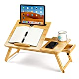 EIGSO Laptop Bed Desk Table Tray with...