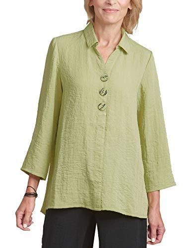 Habitat Clothing Women's Express Travel Tunic Swing Shirt, Fern, XSmall
