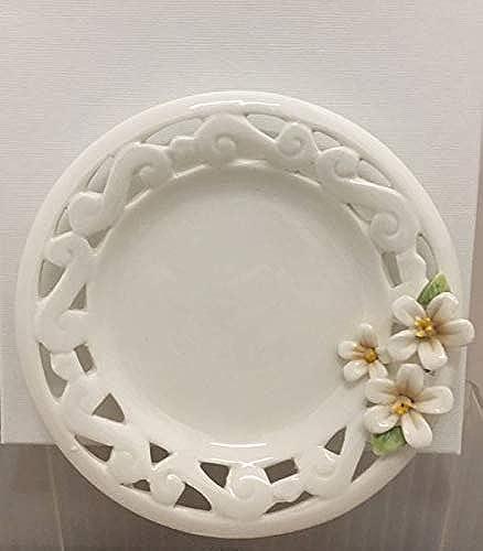 5 Pièces Plat Soucoupe en Porcelaine Décoré en Boîte Cadeau Boîte de Faveur