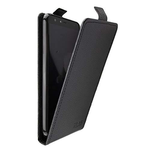 caseroxx Flip Cover für Gigaset GS100, Tasche (Flip Cover mit & ohne Bildschirmschutzfolie) (Flip Cover, schwarz)