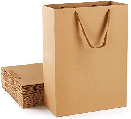 Large Gift Bags Eusoar 20Pcs 12x5x16 Shopping Bags with Handles Kraft Craft Paper Gift Bags product image