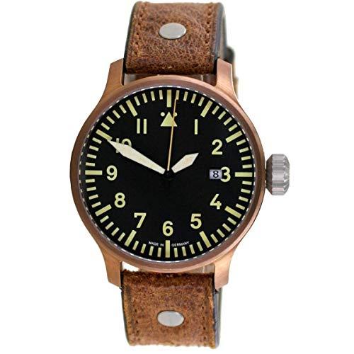Aristo Orologio da polso da uomo, stile vintage, orologio da aviatore, automatico, 0H18A