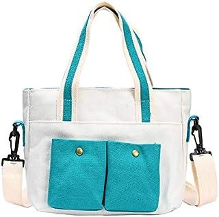 Yaliiliyy Everyday Bags for Women, Ladies Shoulder Bag Canvas Messenger Bag Ladies Leisure Shopping Beach Tote Bag. (Color...
