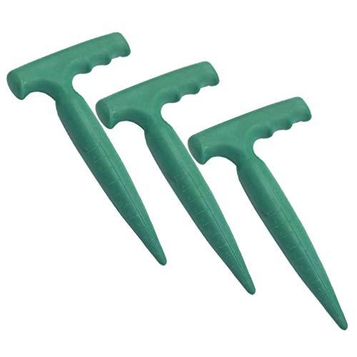 Cabilock 3Pcs Semi di Plastica Semi più Larghi Piantine Dibber Semi di Giardino Dispenser Attrezzi da Giardinaggio per Trapiantare Piantare (Verde)