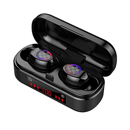 QTJUST - Cuffie professionali da gioco con Bluetooth, compatibili con 5.0 in orecchio, con suono stereo, a basso consumo energetico