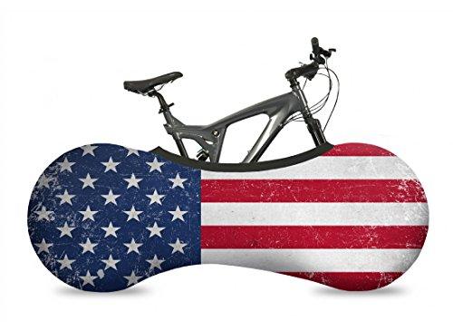 VELOSOCK Indoor Fahrradschutzhülle Fahrradabdeckung zur Lagerung - Länderflaggen - um Böden und Wände SCHMUTZFREI zu halten - Passt für 99% Aller Erwachsenen-Fahrräder. … (USA)