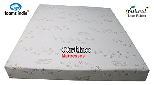 "Foams India® 100% Natural Latex Foam® Ortho Mattress 72 x 36 x 5"" with One Latex Elegant Pillows Free (24 BEM Worth Rs.1540)"