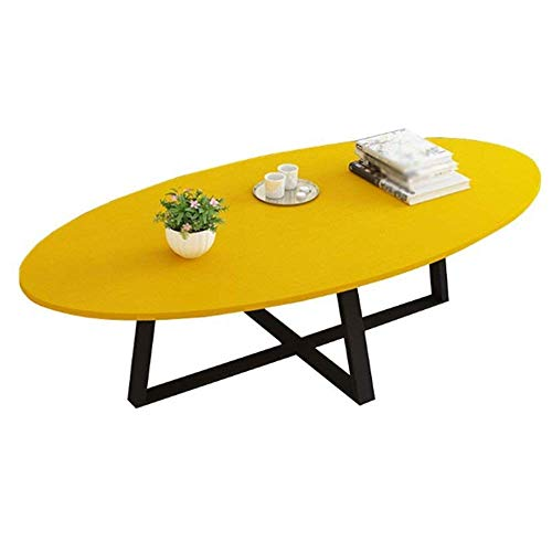 NBVCX Furniture Decoration Table Solid Wood Living Room Coffee Table Modern Simple Multi Function Side Table/Office Computer Desk 6 Colors Optional A++ yellow